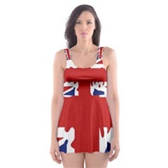 Uk Splat Flag Skater Dress Swimsuit