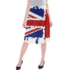 Uk Splat Flag Midi Beach Skirt