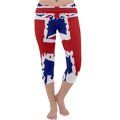 Uk Splat Flag Capri Yoga Leggings