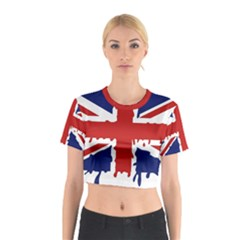 Uk Splat Flag Cotton Crop Top