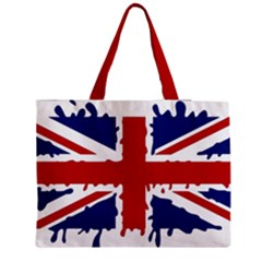 Uk Splat Flag Medium Zipper Tote Bag