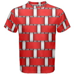 Weave And Knit Pattern Seamless Background Wallpaper Men s Cotton Tee