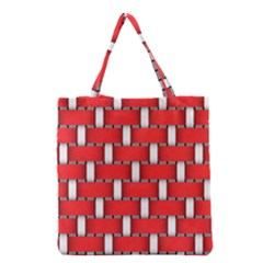 Weave And Knit Pattern Seamless Background Wallpaper Grocery Tote Bag