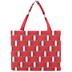 Weave And Knit Pattern Seamless Background Wallpaper Mini Tote Bag