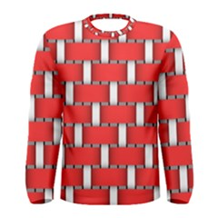Weave And Knit Pattern Seamless Background Wallpaper Men s Long Sleeve Tee