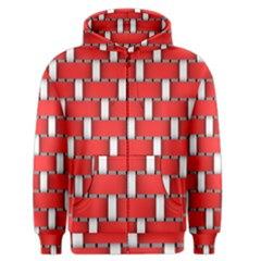 Weave And Knit Pattern Seamless Background Wallpaper Men s Zipper Hoodie