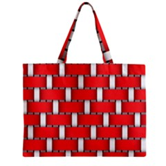 Weave And Knit Pattern Seamless Background Wallpaper Zipper Mini Tote Bag