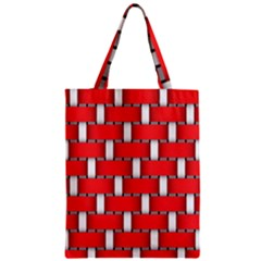 Weave And Knit Pattern Seamless Background Wallpaper Zipper Classic Tote Bag
