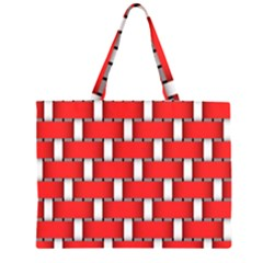 Weave And Knit Pattern Seamless Background Wallpaper Zipper Large Tote Bag