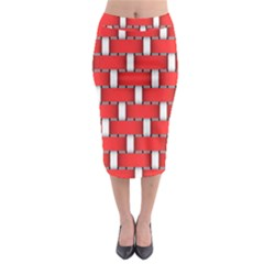 Weave And Knit Pattern Seamless Background Wallpaper Midi Pencil Skirt