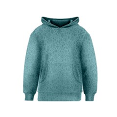 White Noise Snow Blue Kids  Pullover Hoodie