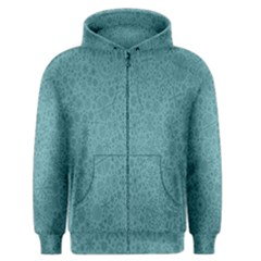 White Noise Snow Blue Men s Zipper Hoodie