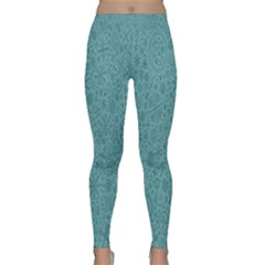 White Noise Snow Blue Classic Yoga Leggings