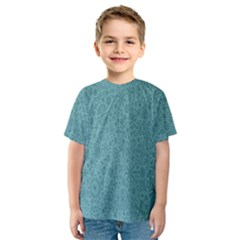 White Noise Snow Blue Kids  Sport Mesh Tee