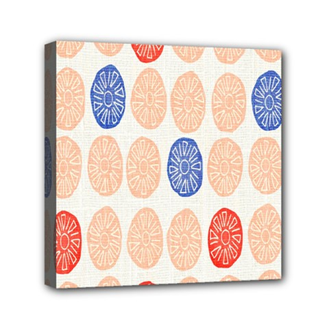 Wheel Circle Red Blue Mini Canvas 6  x 6