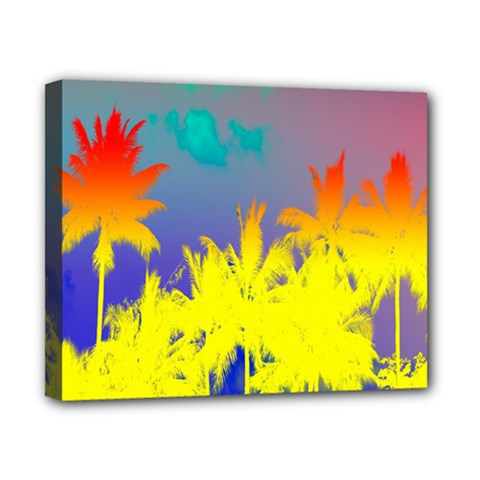 Tropical Cool Coconut Tree Canvas 10  x 8