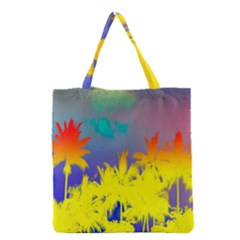 Tropical Cool Coconut Tree Grocery Tote Bag