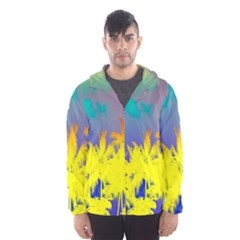 Tropical Cool Coconut Tree Hooded Wind Breaker (Men)