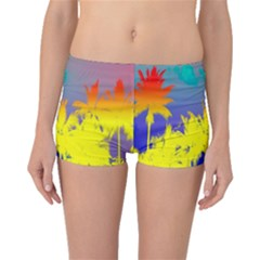 Tropical Cool Coconut Tree Boyleg Bikini Bottoms