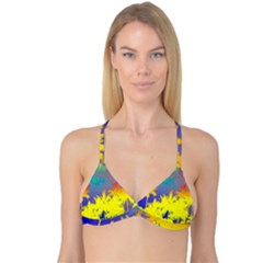 Tropical Cool Coconut Tree Reversible Tri Bikini Top