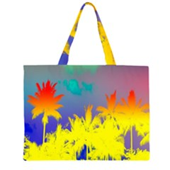 Tropical Cool Coconut Tree Large Tote Bag