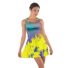 Tropical Cool Coconut Tree Cotton Racerback Dress