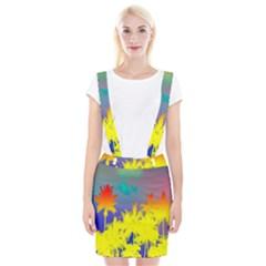 Tropical Cool Coconut Tree Suspender Skirt