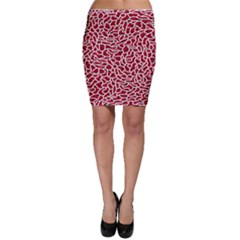 Tangled Thread Red White Bodycon Skirt