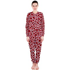 Tangled Thread Red White OnePiece Jumpsuit (Ladies)
