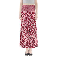Tangled Thread Red White Maxi Skirts