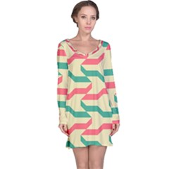 Exturas On Pinterest  Geometric Cutting Seamless Long Sleeve Nightdress