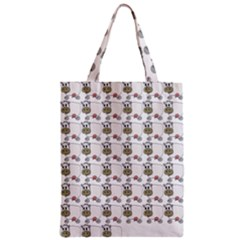 Cow Eating Line Zipper Classic Tote Bag