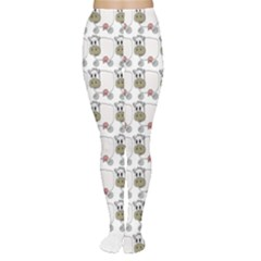 Cow Eating Line Women s Tights