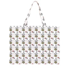 Cow Eating Line Large Tote Bag