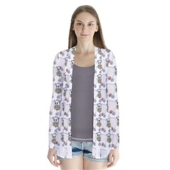 Cow Eating Line Cardigans