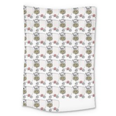 Cow Eating Line Large Tapestry