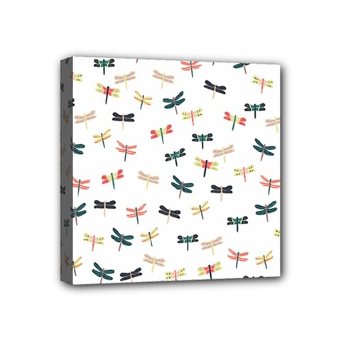 Dragonflies Animals Fly Mini Canvas 4  x 4
