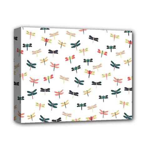 Dragonflies Animals Fly Deluxe Canvas 14  x 11