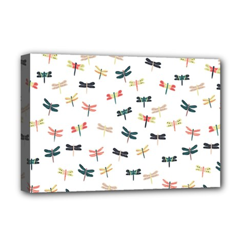 Dragonflies Animals Fly Deluxe Canvas 18  x 12