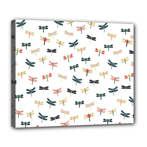 Dragonflies Animals Fly Deluxe Canvas 24  x 20