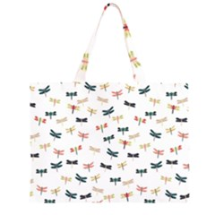 Dragonflies Animals Fly Large Tote Bag