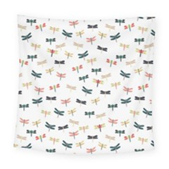 Dragonflies Animals Fly Square Tapestry (large)