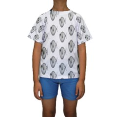 Fish Ikan Piranha Kids  Short Sleeve Swimwear