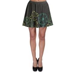Elegant Floral Flower Rose Sunflower Skater Skirt