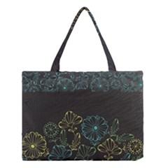 Elegant Floral Flower Rose Sunflower Medium Tote Bag