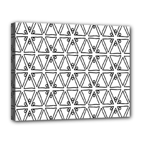 Flower Black Triangle Canvas 14  x 11
