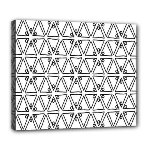 Flower Black Triangle Deluxe Canvas 24  x 20