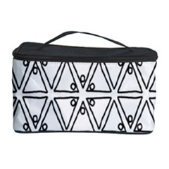 Flower Black Triangle Cosmetic Storage Case