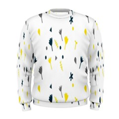 Flower Floral Yellow Blue Leaf Men s Sweatshirt