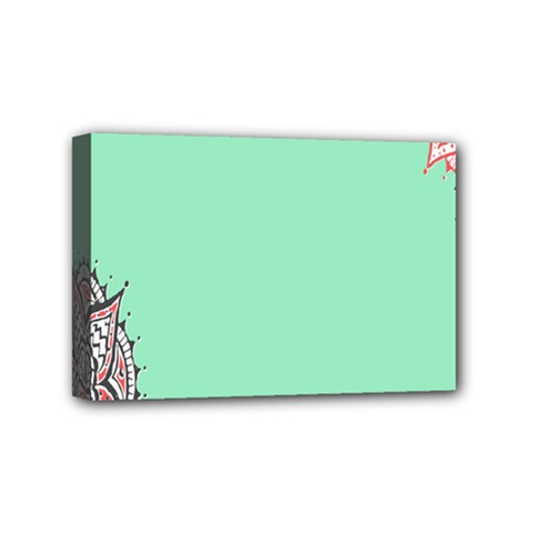 Flower Floral Green Mini Canvas 6  x 4